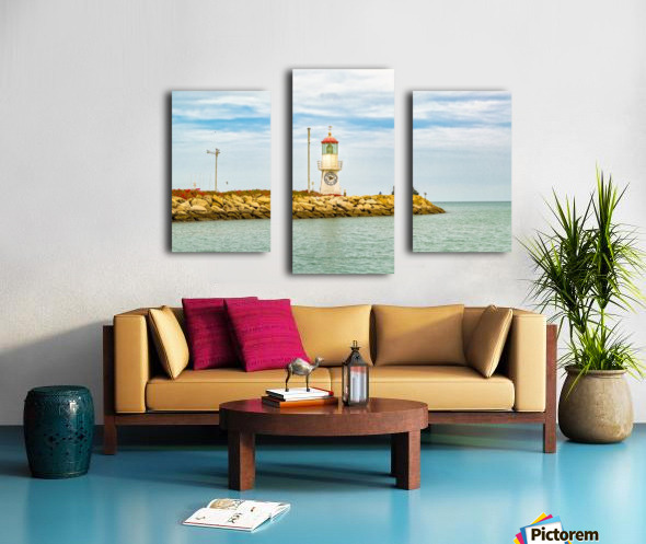 Rock Breakwater Salinas Ecuador Canvas print