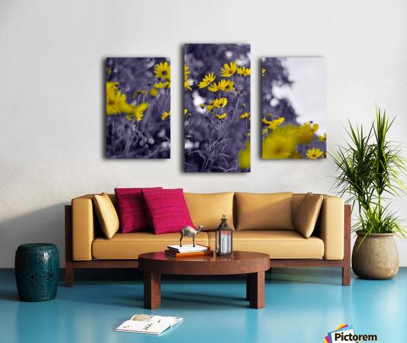 Still yellow Canvas print