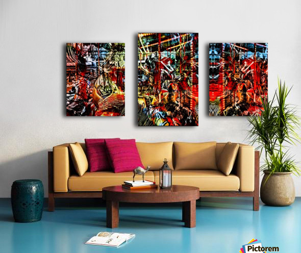 The World  Becomes a Blur Canvas print