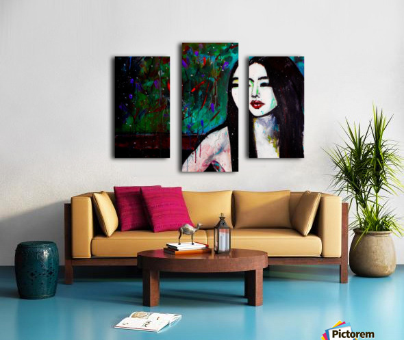 Asian Girl Canvas print
