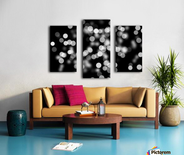 Bokeh Out Of Focus Black White Background Light Canvas print