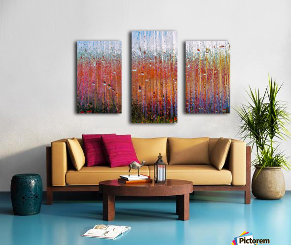 Glass Colorful Abstract Background Color Drip Canvas print