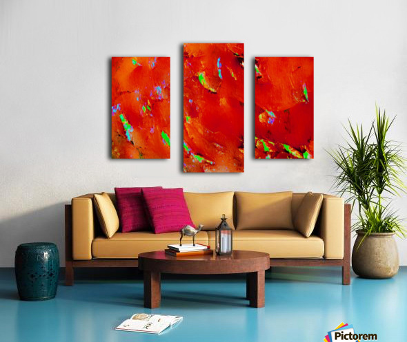 Background Abstract Leaves Seasons Orange Oranges Canvas print