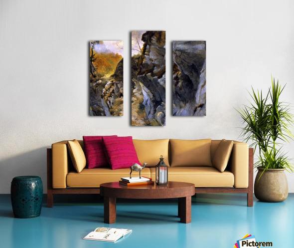 Landscape with cliffs Canvas print