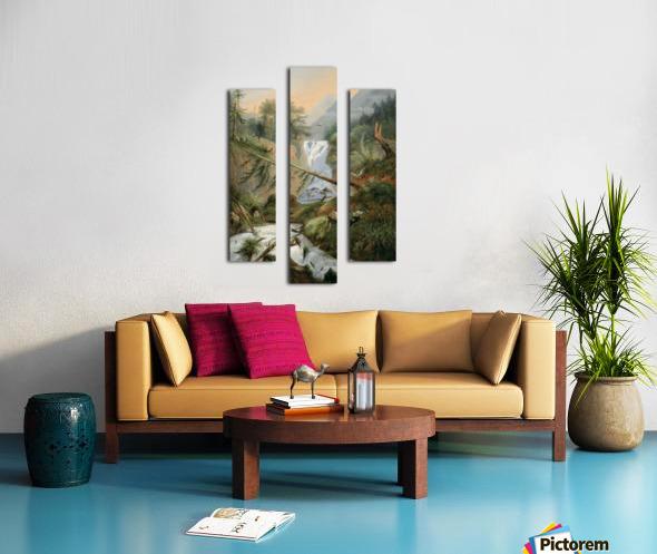 Berger se reposant pres d'une Cascade Canvas print