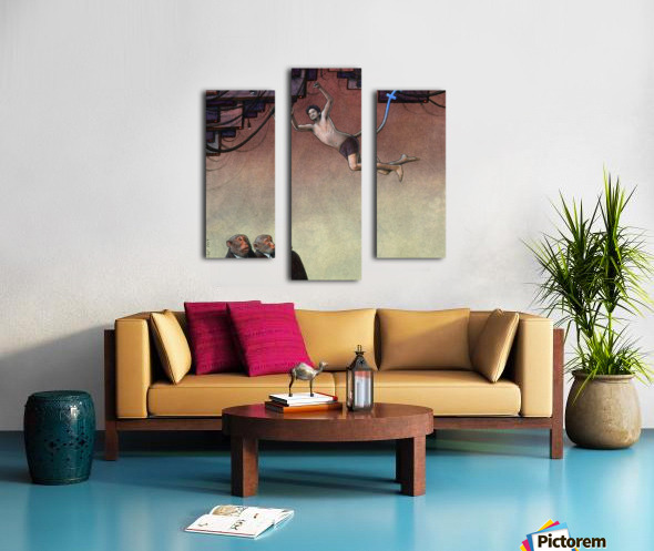 Evolution Facebook Canvas print