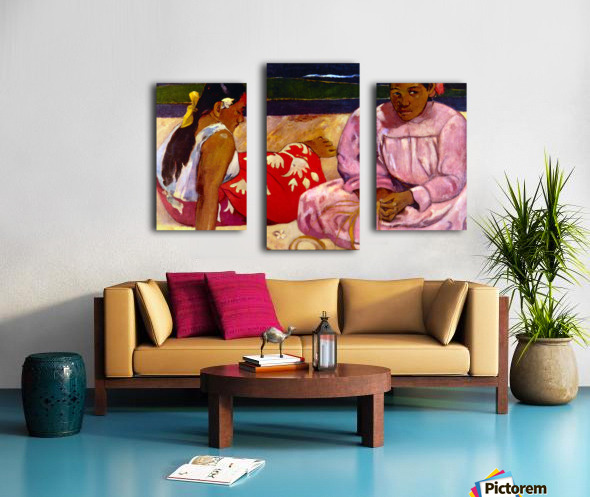 Women of Tahiti by Gauguin Canvas print