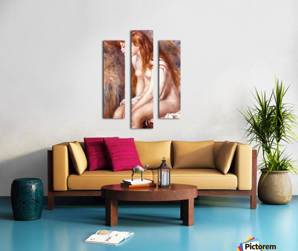 Young Girl Bathing by Renoir Canvas print