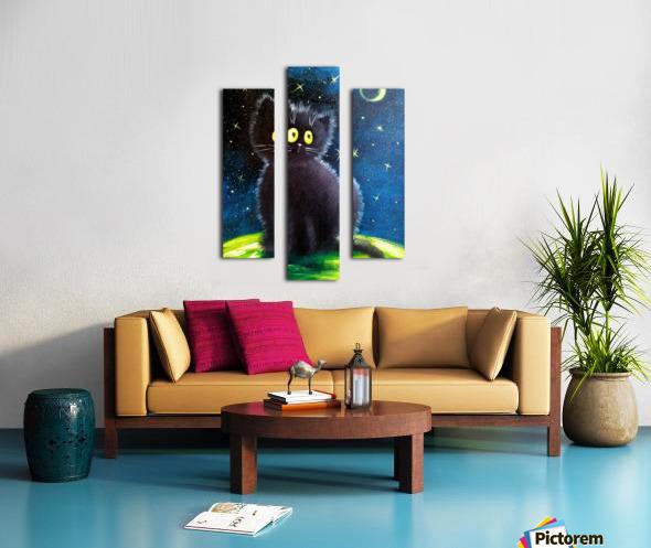 Черный кот Canvas print