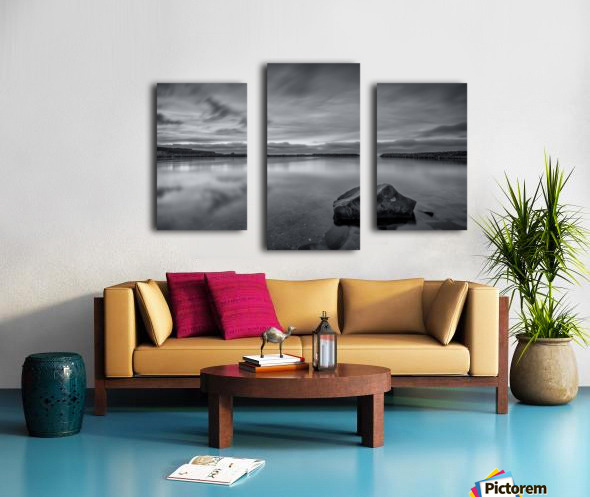 Inside the Harbour - bw Canvas print