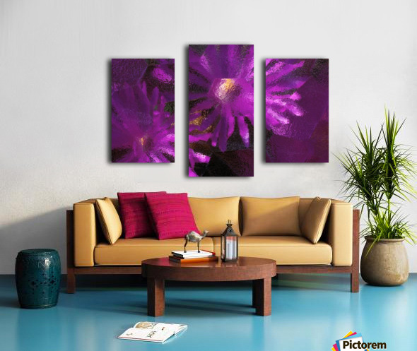 Ice Plant Blossoms Under Ice Canvas print