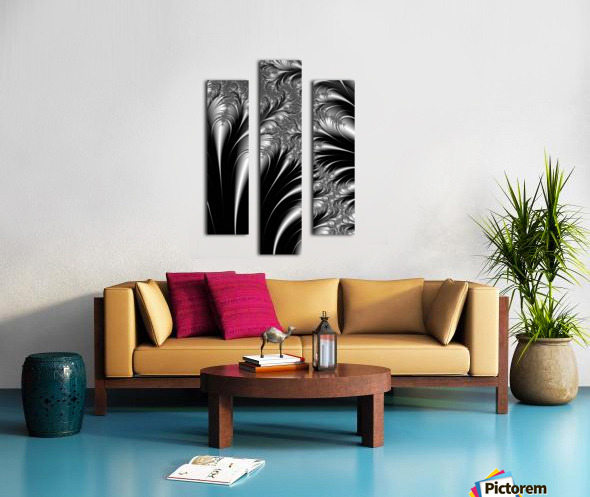 Silver And Black Abstract Canvas print