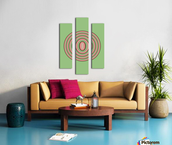 Concentric Circles Canvas print