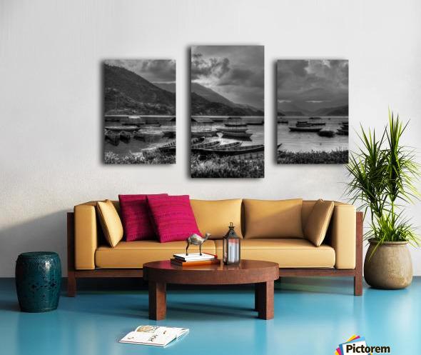 Monochrome Madness - Fewa Lake Canvas print