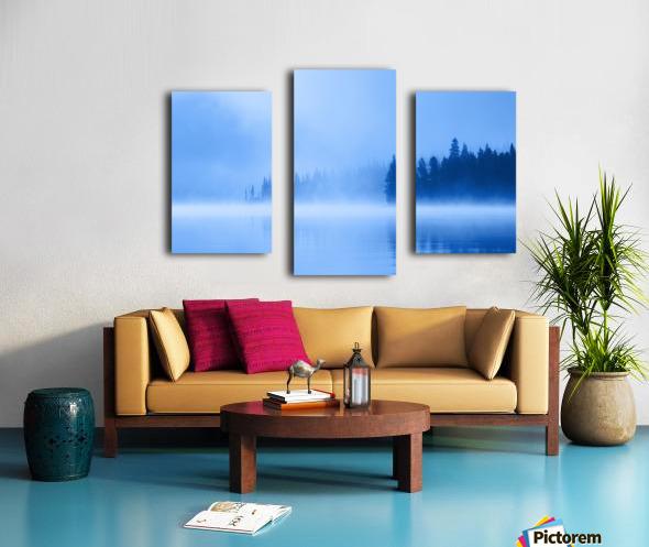 Foggy Lake Canvas print