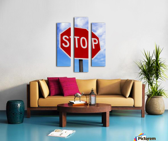 Stop Sign; Ireland Canvas print