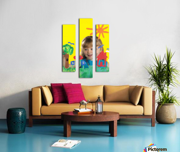 Girl Painting On Glass Canvas print