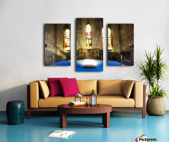 Bible In Church Canvas print