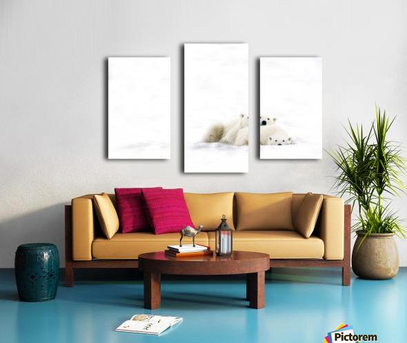 Two Polar Bears Snuggling Canvas print