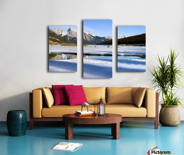 Medicine Lake, Jasper National Park, Alberta, Canada Canvas print