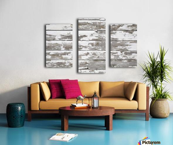 Paint Peeling Off Wood Canvas print
