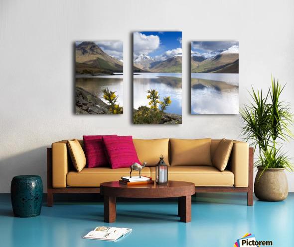 Mountains And Lake, Lake District, Cumbria, England, United Kingdom Canvas print