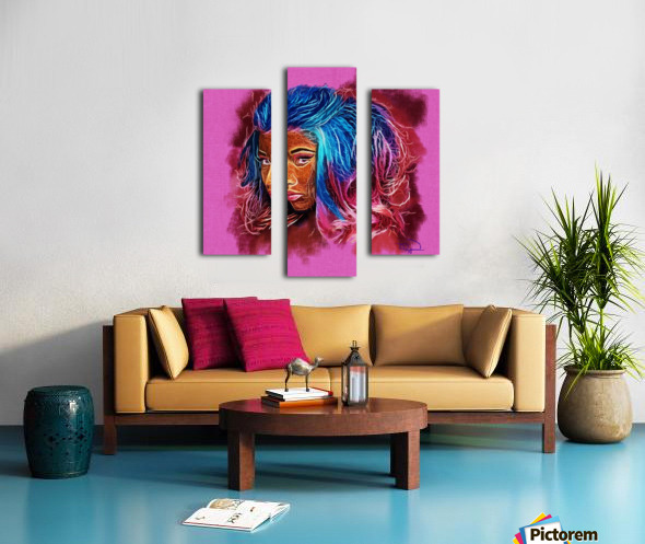 Nicki Minaj Abstracto Canvas print