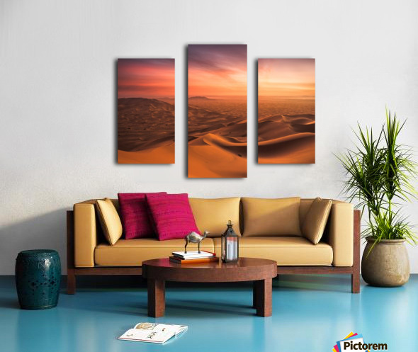 Sunset in the Desert Canvas print