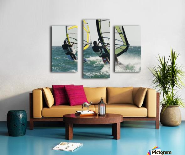 Windsurfing; Tarifa, Cadiz, Andalusia, Spain Canvas print