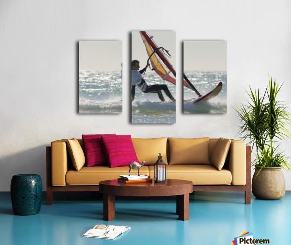 Windsurfing; Los Lances Beach Tarifa Spain Canvas print