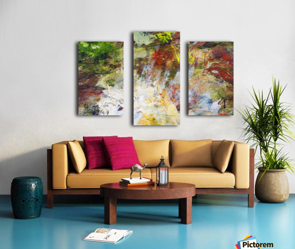 Abstract Oil Painting On Canvas Canvas print