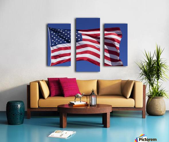 American Flag; Pahreah, Utah, United States of America Canvas print