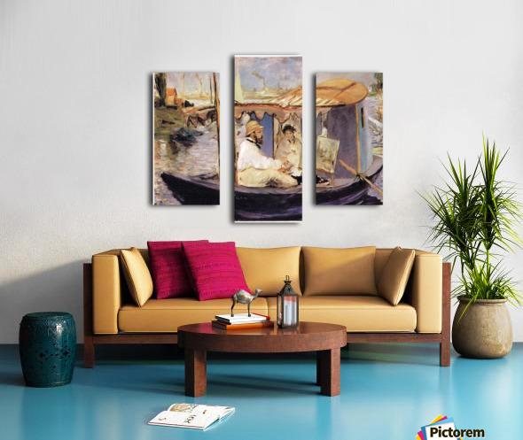 Claude_Monet_dans_son_bateau_atelier_1874 by Manet Canvas print
