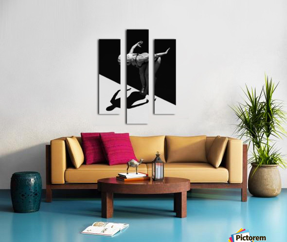 A Woman Prepares To Jump Backwards Off The Edge Of A Pool Into The Water; Tarifa, Cadiz, Andalusia, Spain Canvas print