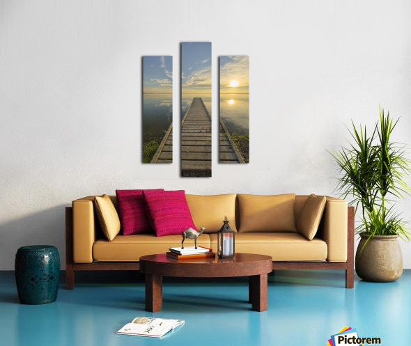 Wharf, Queen Elizabeth Provincial Park; Alberta, Canada Canvas print