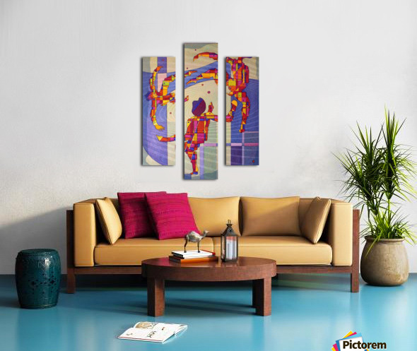 Juggling balls foot Canvas print