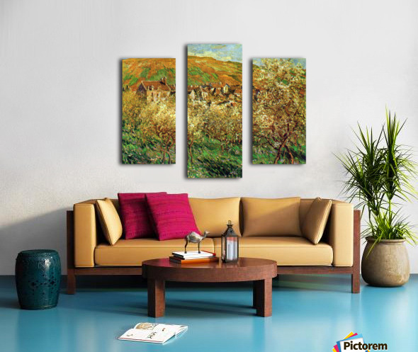 Flowering apple trees by Monet Canvas print