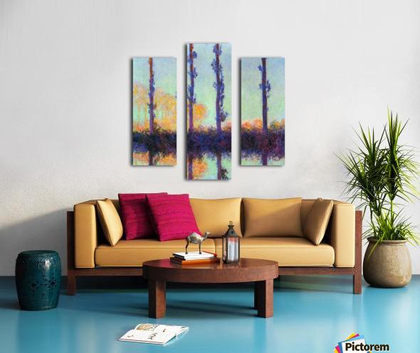 Four poplars by Monet Canvas print