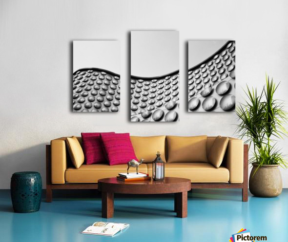 Facade of wall with curve and circle pattern; Las Vegas, Nevada, United States of America Canvas print