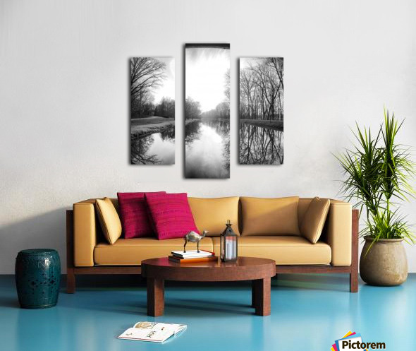 The Canal, Black and White Canvas print