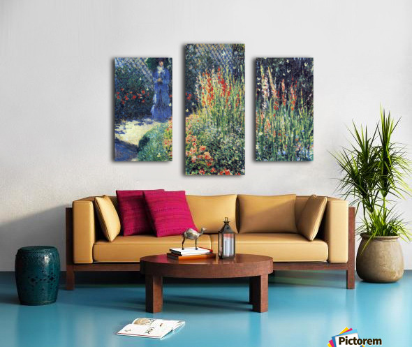 Gladiolas by Monet Canvas print