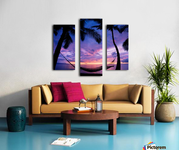 beautiful splitting in the palm trees