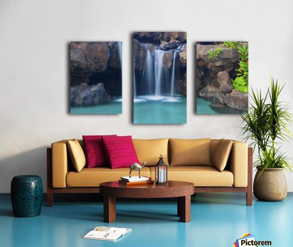 Waterfall into Resort Pool Canvas print