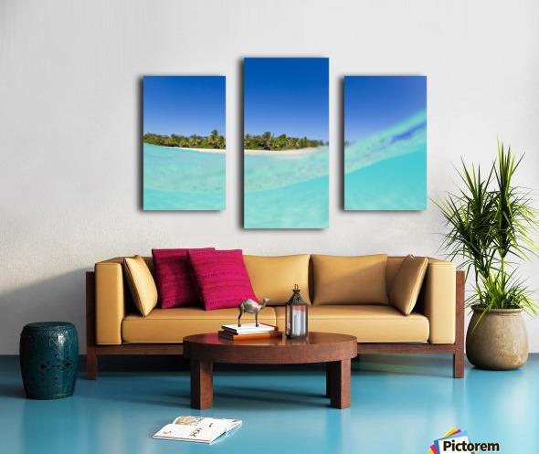 Tropical Island, Blue Sky and Beautiful Ocean Canvas print