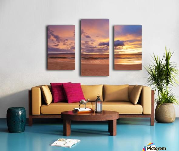 Sunset on Hawaii Beach Canvas print