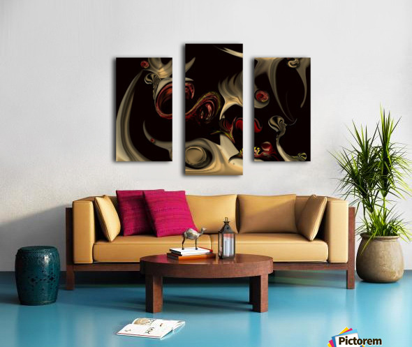 Memories of Invisible Reality Canvas print