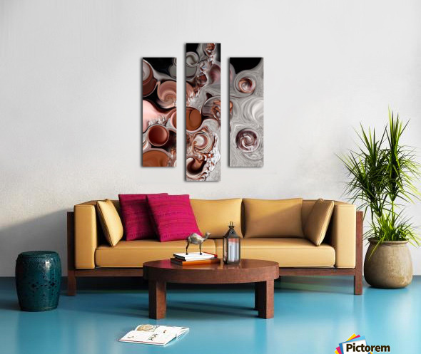 Fragment of Modern Contrast Canvas print