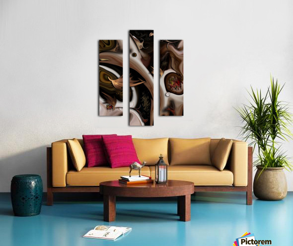 Juxtaposed Nature I Canvas print