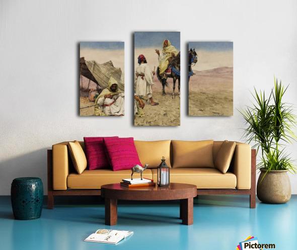 Nomades du desert Canvas print