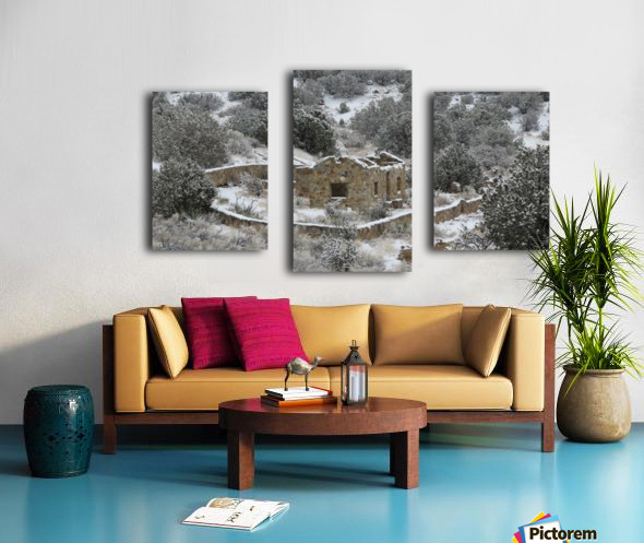Ruins - Juan Tabo in Snow 2VP Canvas print